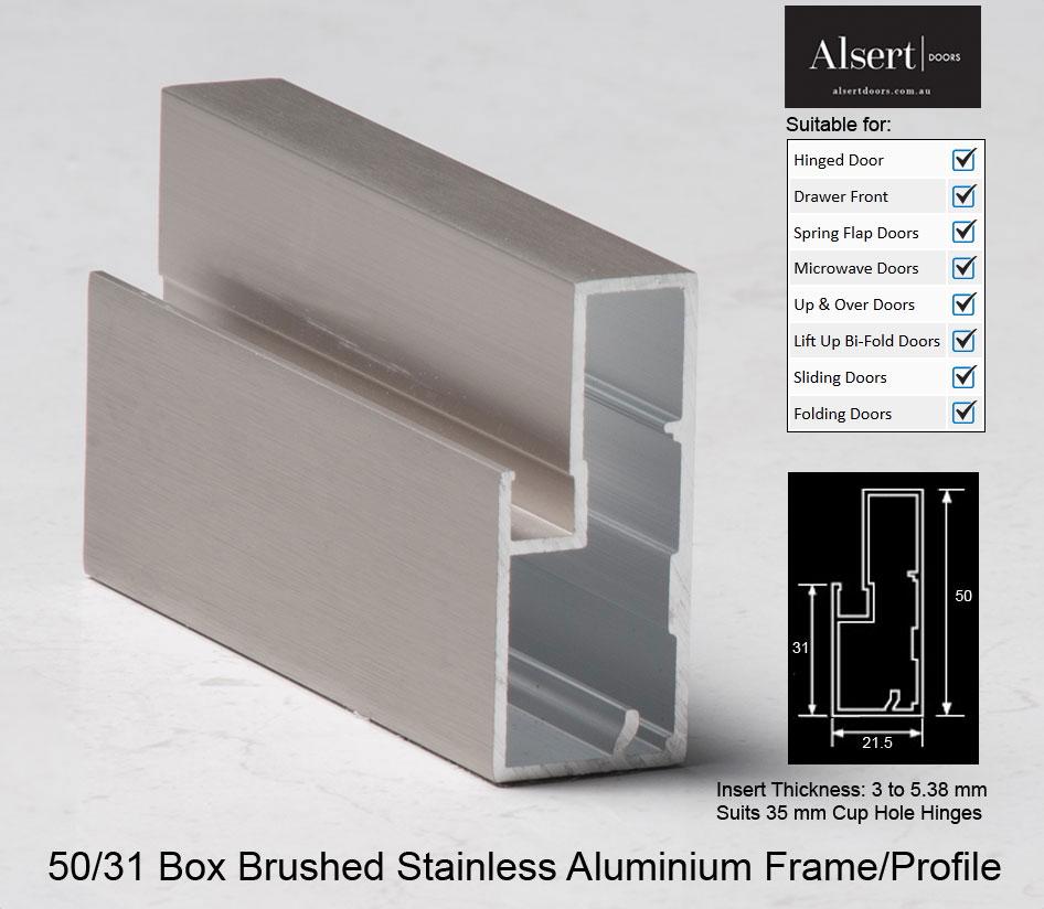 Brushed Stainless Aluminium Frames Alsert Doors