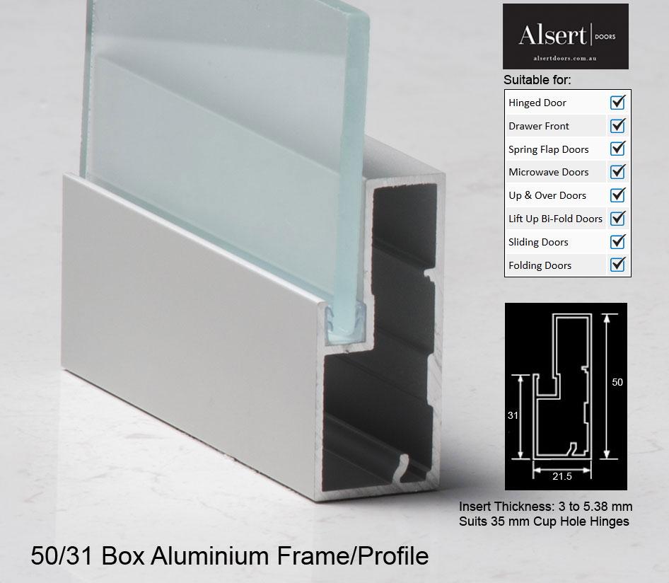 Clear Anodised Aluminium Frame Alsert Doors